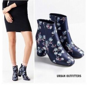 Urban Outfitters Blue Floral Heels, Brand New!